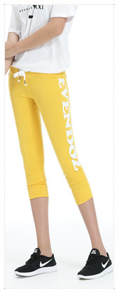 1054332 - Patch Point 7 Pants _Yellow