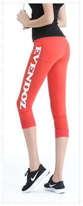 1054333 - Patch Point 7 pants _Red