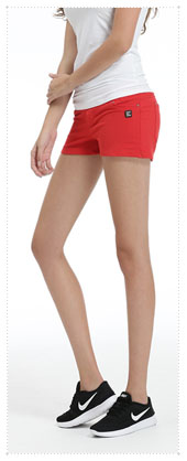 1054390 - Twin Button_V2.0 Hot Pants_Red