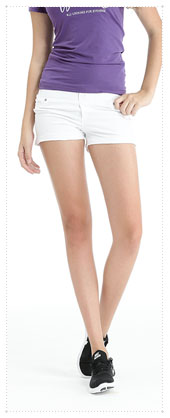 1054391 - Twin Button _V2.0 Hot Pants_white