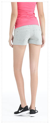1054392 - Twin Button _V2.0 Hot Pants_Gray