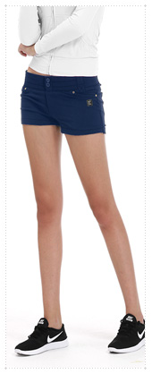 1055427 - Twin Button_V2.0 Hot Pants_Navy