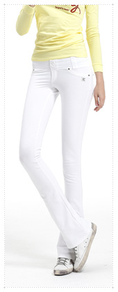 1048622 - Twin button Training pants_White (half boot cut)