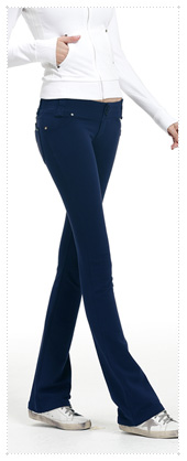 1048623 - Twin button training pants_Navy (half boot cut)